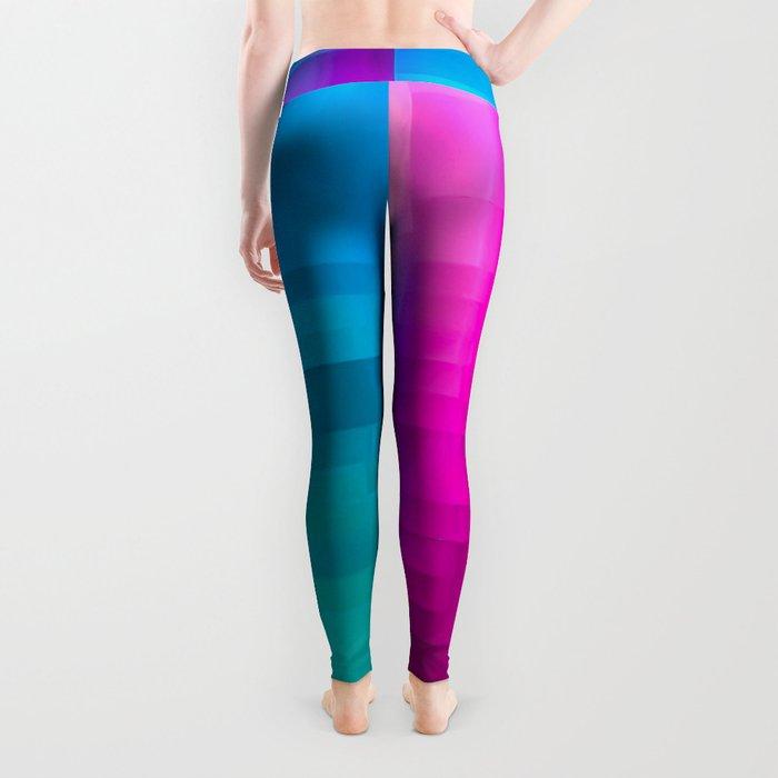 Vertical Rainbow Color Palette Leggings