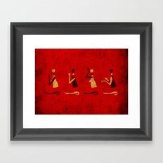 Forms of Prayer - Red Framed Art Print