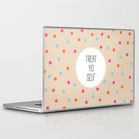treat yo self Laptop & iPad Skins featuring Treat Yo Self II by Galaxy Eyes