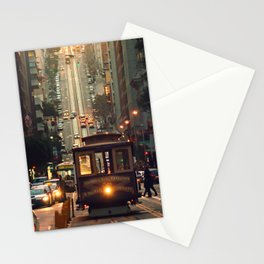 Cable car - San Francisco, CA Stationery Cards