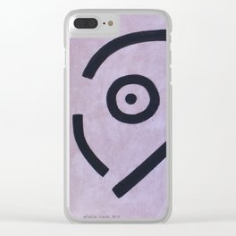 signo 8 negro Clear iPhone Case