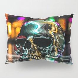 Rainbow Skull Ring Pillow Sham