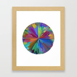 color wheel 01 Framed Art Print