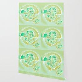 Irregular floral shapes Wallpaper
