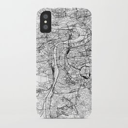Prague White Map iPhone Case