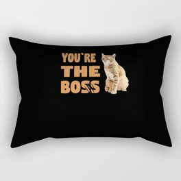 Crazy Cat You Are The Boss Wink Claw Rectangular Pillow