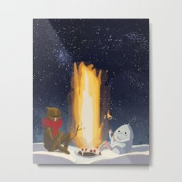 Eternal Birthday Roasting Marshmallows Metal Print
