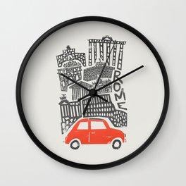 Rome Cityscape Wall Clock
