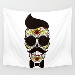 Mr. Sugar Skull Wall Tapestry