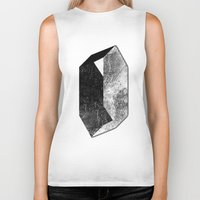 mineral Biker Tanks featuring Moon Mineral by Mood/Wood
