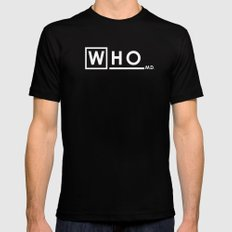 WHO MD Black Mens Fitted Tee X-LARGE