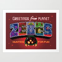 Greetings from Planet Zebes Art Print
