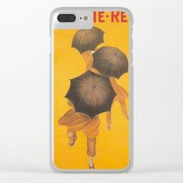 Vintage poster - Parapluie-Revel Clear iPhone Case