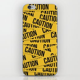 Caution iPhone Skin