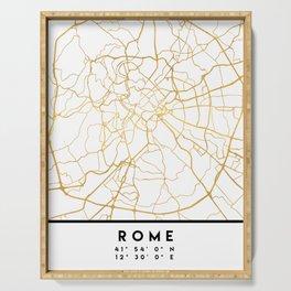 ROME ITALY CITY STREET MAP ART Serving Tray