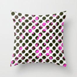 Drunk Dots Throw Pillow