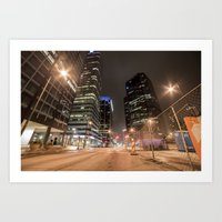 broadway Art Prints featuring BROADWAY  by WalterW