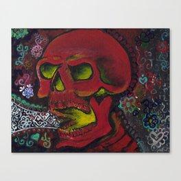 THE SKULL, Halloween Art Canvas Print