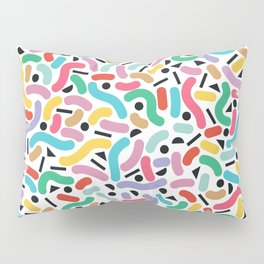 Summer Rainbow Squiggles Pillow Sham