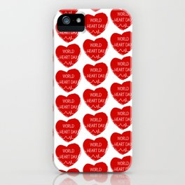 World heart day iPhone Case