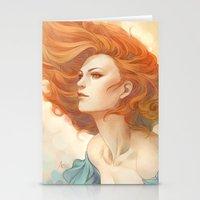 artgerm Stationery Cards featuring Pepper Breeze New by Artgerm™