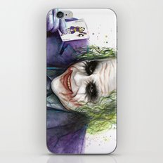 Joker Why So Serious Watercolor iPhone & iPod Skin
