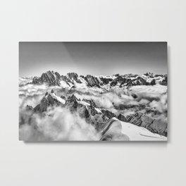 View from Mont Blanc Tramway looking toward Matterhorn Metal Print