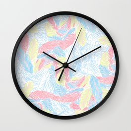 Light feathers Wall Clock