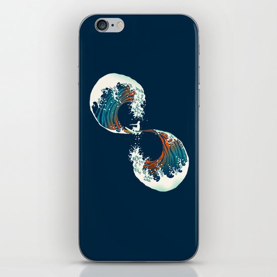 The Wave is forever iPhone & iPod Skin