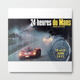 Le Mans, 24hs Le Mans 1971, original vintage poster, Le mans poster Metal Print