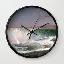Frederic Edwin Church - Niagara Falls - Hudson River School Oil Painting Wall Clock