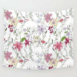 Flower pattern coloring Wall Tapestry