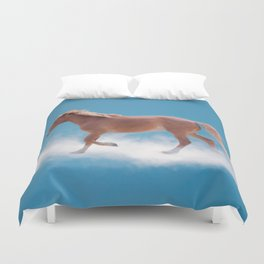 Walking on clouds over the blue sky - version #2 - #society6 #buyart Duvet Cover