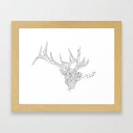 Elk Wisdom Framed Art Print