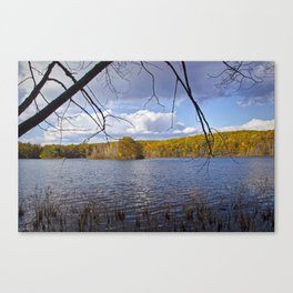 Hall Lake by Yankee Springs in Autumn Canvas Print