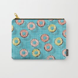 Chocolate Donut Floats in the Summer Pool Carry-All Pouch