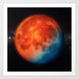 Super blue blood moon Art Print