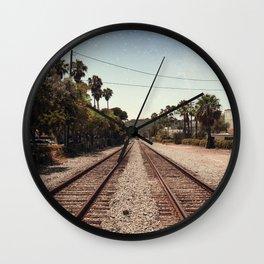 Rail Gazing Santa Barbara Wall Clock