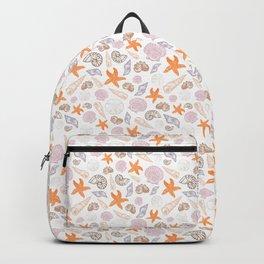 Seashell Print Backpack