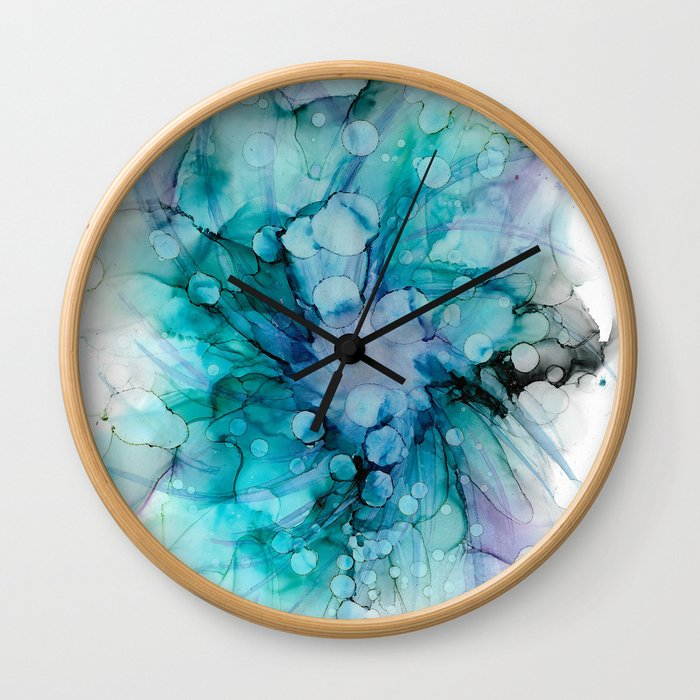 Bubble Bloom Wall Clock