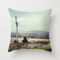 farm Throw Pillows featuring Farm by sharinerin