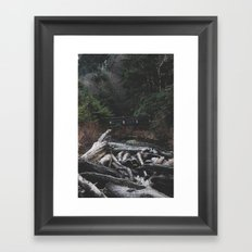 Indian Beach Oregon Framed Art Print