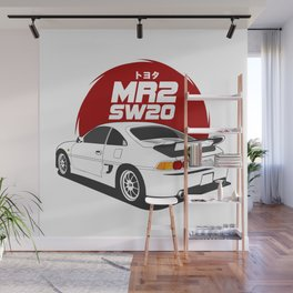MR2 SW20 White Wall Mural