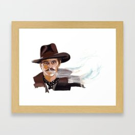 "Tombstone (Film, 1993) Doc Holliday ""I'm Your Huckleberry"" Framed Art Print"