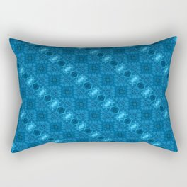 Aqua Blue Pattern 1 (Medium) Rectangular Pillow