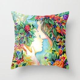 Nature/Nurture Throw Pillow