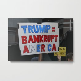 Bankrupt America - Women's March NYC Metal Print