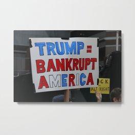 Bankrupt America - Women's March NYC Metal Print