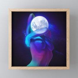 Moon Head Framed Mini Art Print