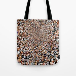 """The Work 3000 Famous and Infamous Faces Collage Tote Bag"